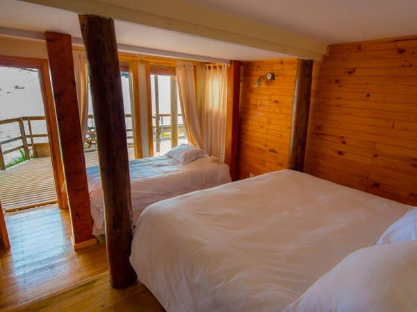 Bedrooms at the Refugio Nautico Ecolodge