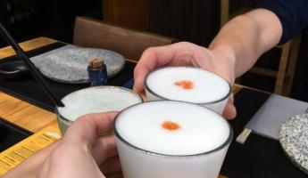 In true Chilean style, pisco sours with Dani to welcome us to Chile!