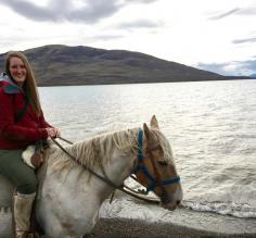 I'm happiest on a horse. Look at that beautiful El Calafate Lake!