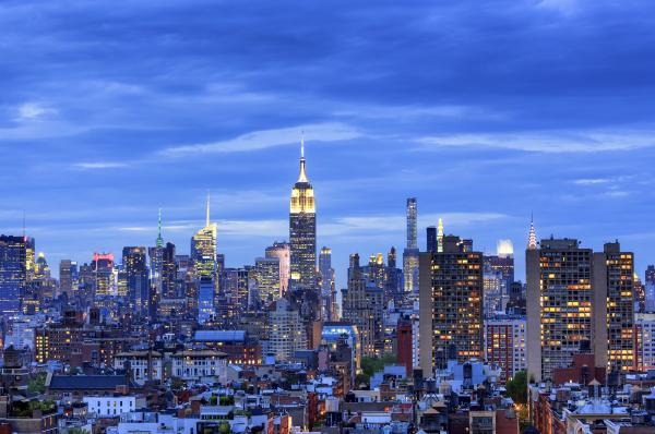Skyline of Manhattan with Empire State Building