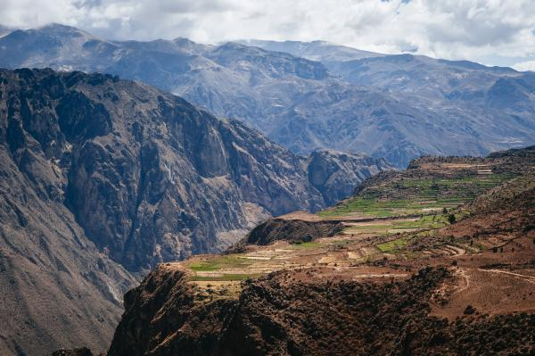 Andes Mountains in Colca Canyon