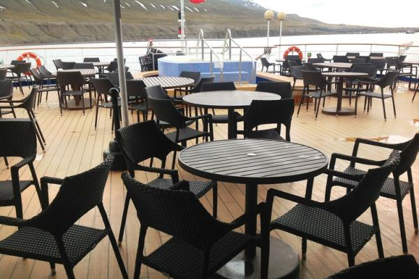 Outdoor Bistro at the Jacuzzi area of the Sea Spirit