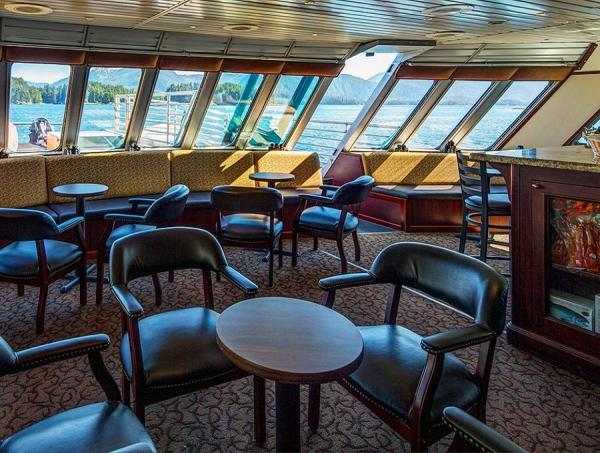 Bar aboard the Alaskan Dream