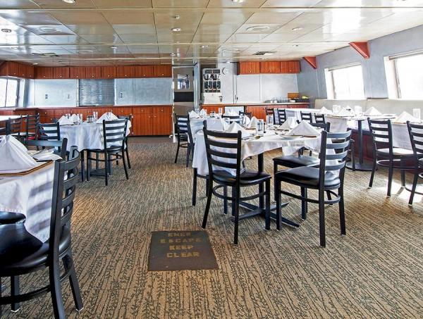 Dining Room aboard the Baranof Dream