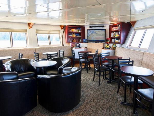 Lounge aboard the Baranof Dream