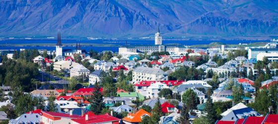 View of Reykjavik from the Church Tower