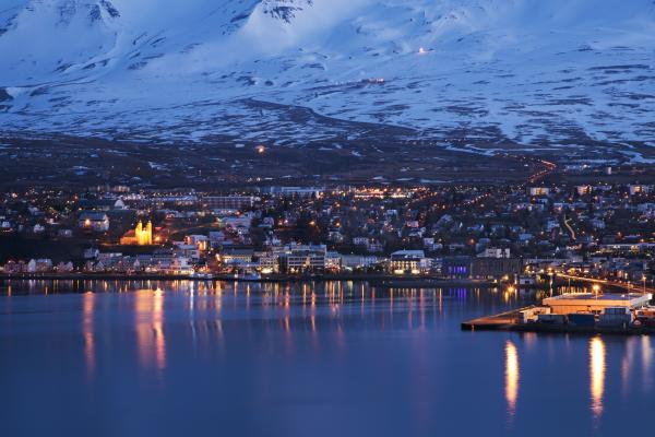 The night lights of Akureyri