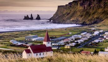 Charming coastal town of Vik