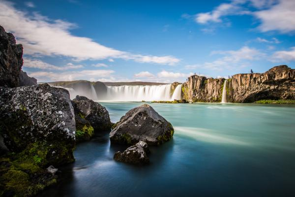 The amazing Godafoss Waterfall