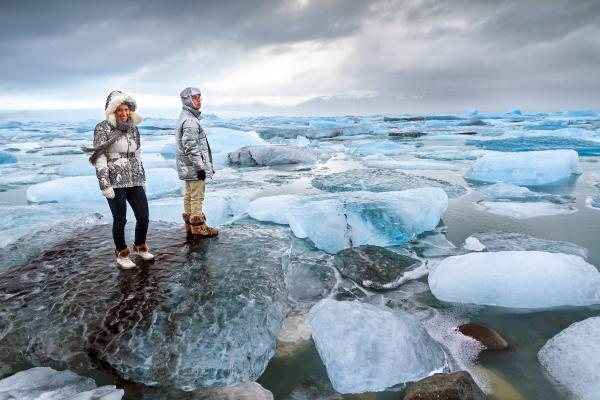 Icy waters of Jokulsarlon Lagoon