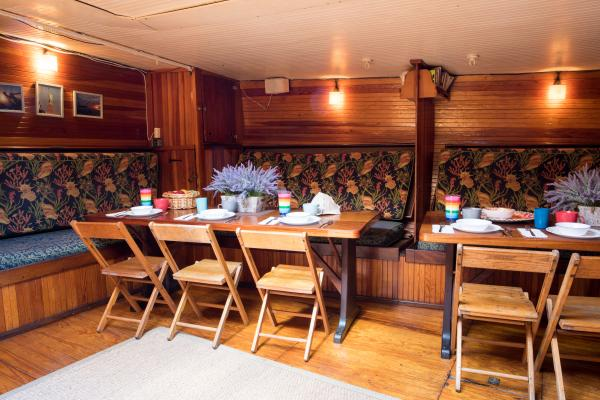 Dining room aboard the Liberty Clipper