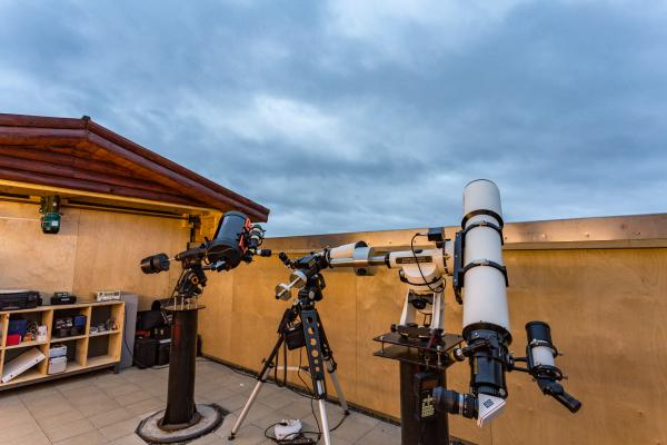 Equipped with telescopes for stargazing