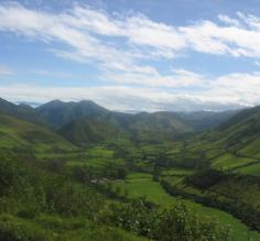 The Ecuador countryside