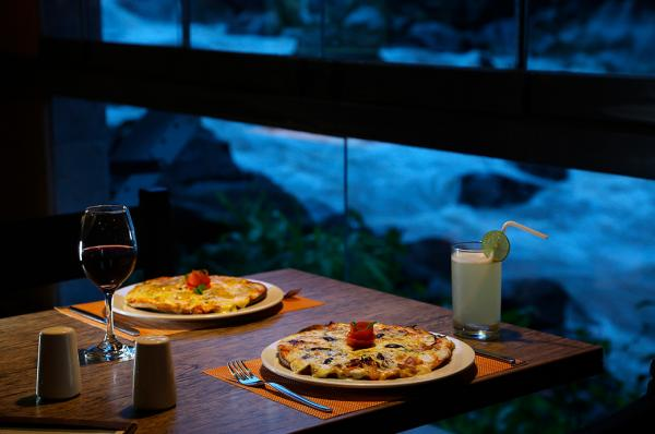 Pizza at Casa Andina Machu Picchu Hotel