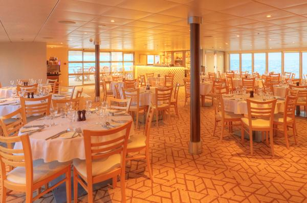 Dining Room at the Coral Discoverer