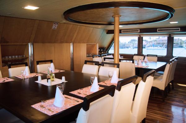 Dining Area aboard the Galaven I
