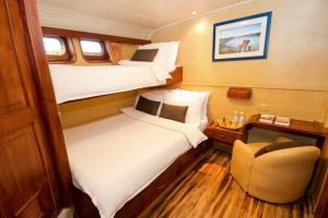 Lower Cabin with bunk bed aboard the Galaven I