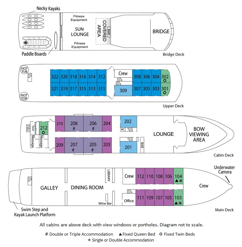 Safari Endeavour deck plan
