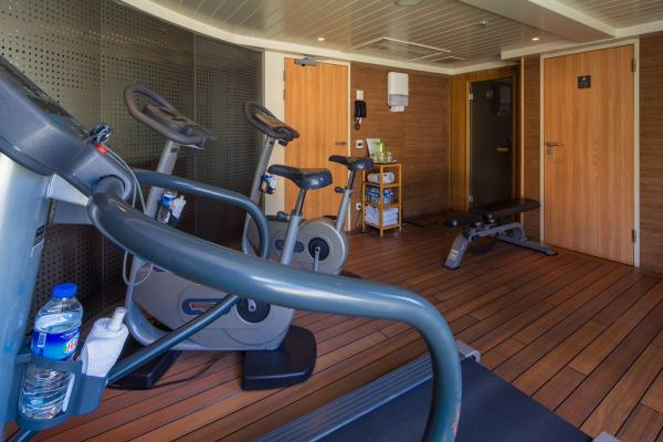 Fitness center on the MS Amadante