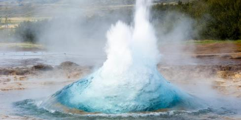 Strokkur Geyser bubbling up