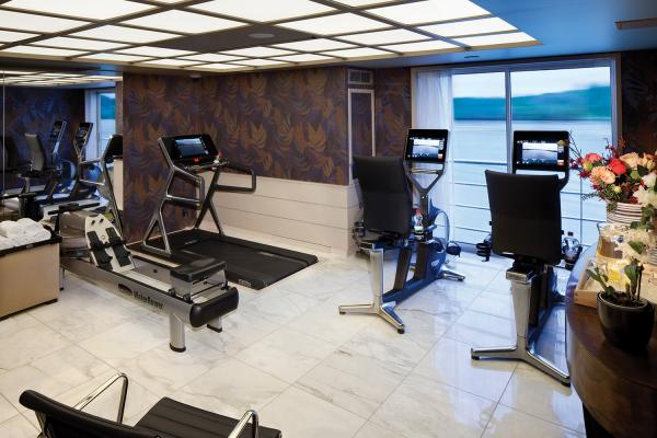 Fitness center on the MS Amaserena