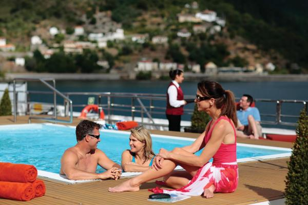 Relax in the pool on the MS Amavida