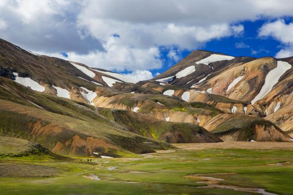 Hiking in the stunning Landmannalaugar region