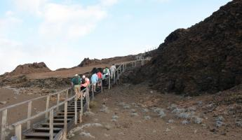 The stairs to the top of Bartholomew Island.