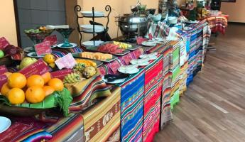 Our beautiful breakfast spread at Patio Andaluz.