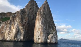 Kicker Rock, where we swam with sharks!