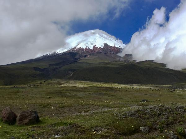 View from the bottom of Cotopaxi Volcano
