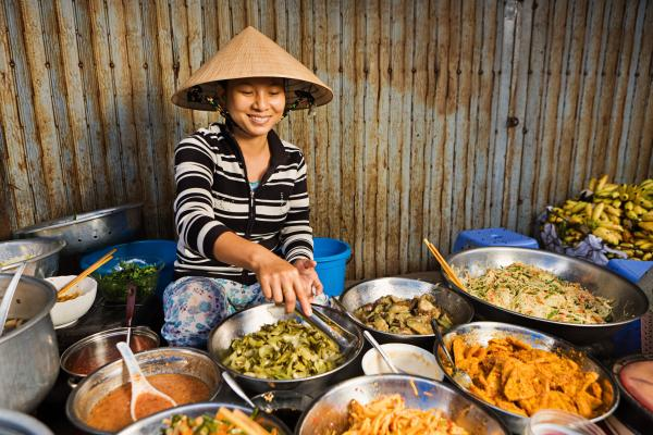 Food vendor in Vietnam