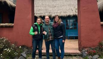 Kate, Alejandro and I after our horseback ride.