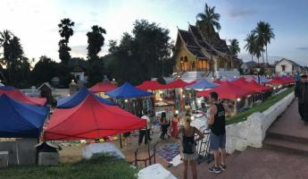 Exploring the Luang Prabang night market!