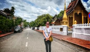 Beautiful streets of Luang Prabang