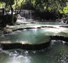 Kuang Si waterfalls.  The most amazing sight!
