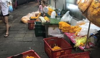 We visited the 24-hour flower market