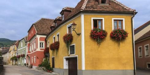 Colorful houses of Weissenkirchen, Austria