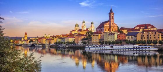 Passau at sunset, Germany