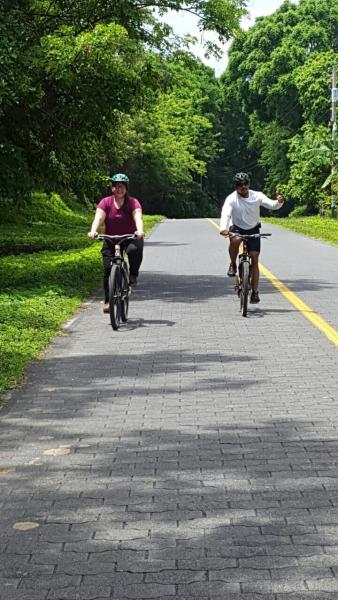 Biking on Ometepe Island