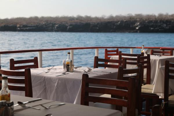 Enjoy the islands' spectacular scenery over a delicious lunch