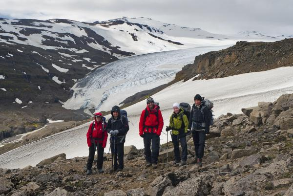 Hiking the remote landscape east of Vatnajökull