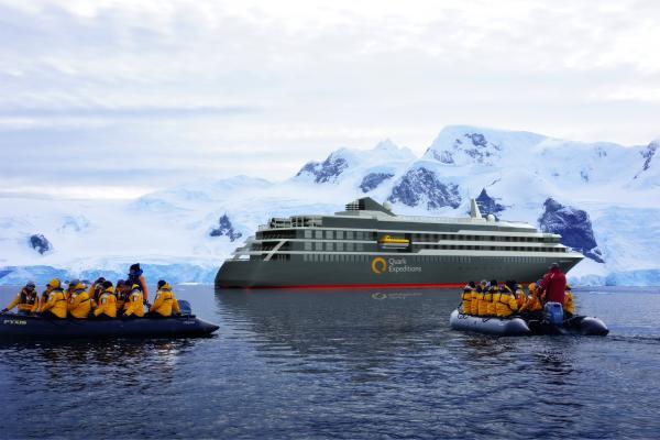 Enjoy Zodiac expeditions during your Antarctica cruise