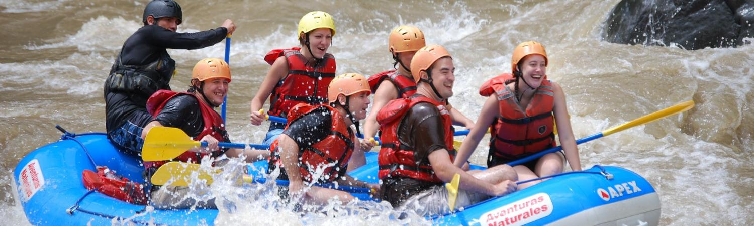 Feeling the rush of the rapids during a whitewater rafting trip in Costa Rica