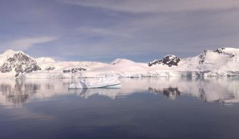 Amazing reflections - even of the icebergs!