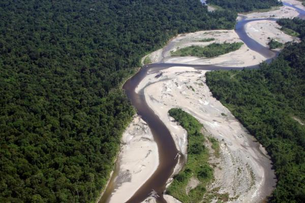 Aerial photo of Sepik River