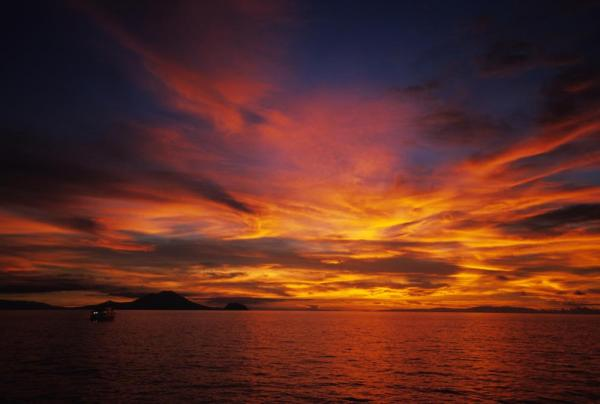 Beautiful sunset in Papua New Guinea