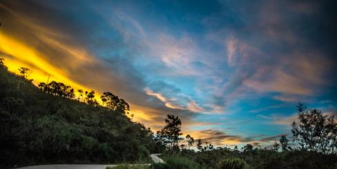 Sunrise in Papua New Guinea Highlands