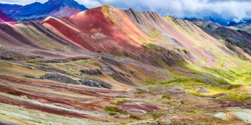 Rainbow Mountain hike in Peru