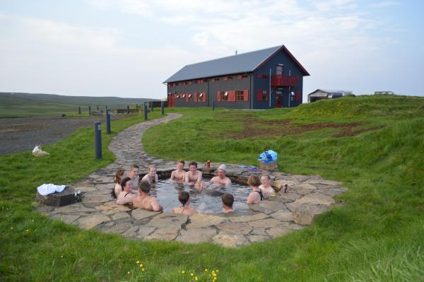 The hot springs soak outside Laugarfell